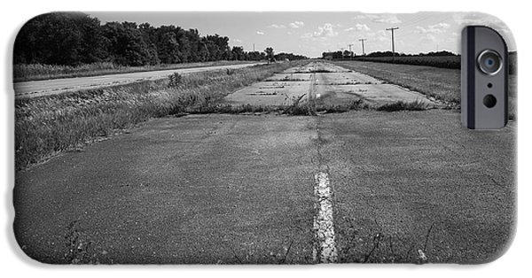 Recently Sold -  - Asphalt iPhone Cases - Abandoned Route 66 iPhone Case by Frank Romeo