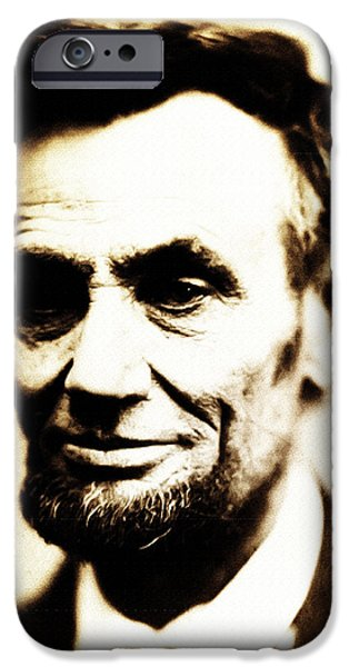 Abraham Lincoln Digital iPhone Cases - Abe iPhone Case by Bill Cannon