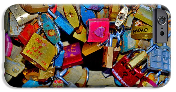 Charles Bridge Digital Art iPhone Cases - About Love. Next to The John Lennon wall in Prague. iPhone Case by Andy Za