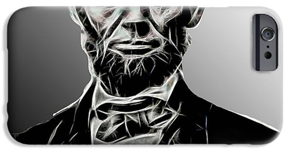 Abraham Lincoln Canvas iPhone Cases - Abraham Lincoln Collection iPhone Case by Marvin Blaine