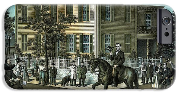 16th President Mixed Media iPhone Cases - Abraham Lincolns Return Home iPhone Case by War Is Hell Store