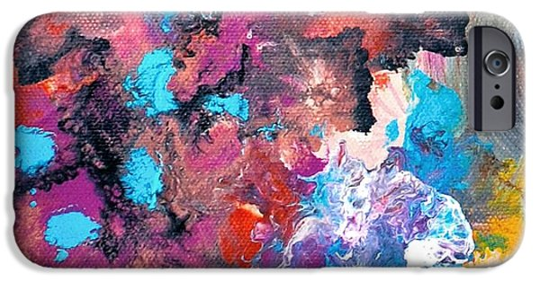 Disc iPhone Cases - Abstract acrylic painting picture iPhone Case by Sumit Mehndiratta