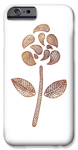 Earthy Paintings iPhone Cases - Abstract Flower iPhone Case by Frank Tschakert
