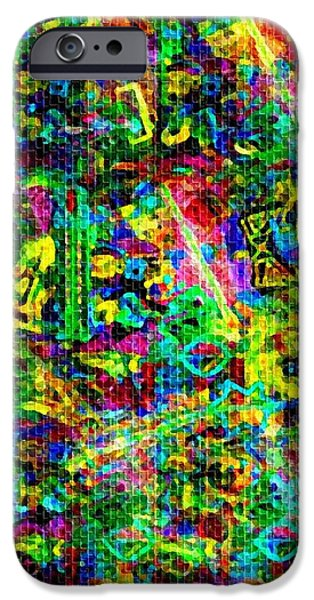 Abstract Digital Paintings iPhone Cases - Abstract Mood Creations no. 1 V A iPhone Case by Gert J Rheeders