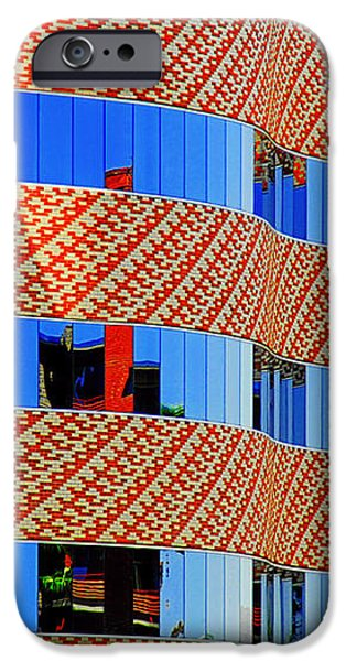 Abstract Reflections in Glass Tucson Arizona iPhone Case by Christine Till