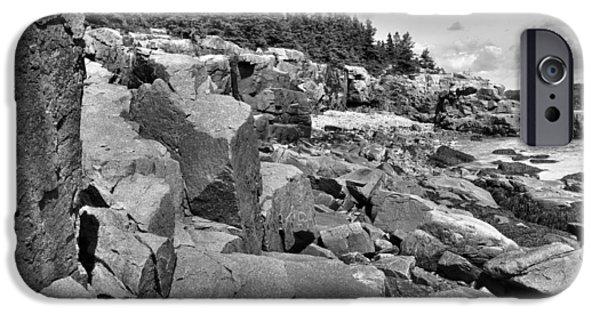 Maine Seacoast iPhone Cases - Acadia Seacoast iPhone Case by Stephen  Vecchiotti