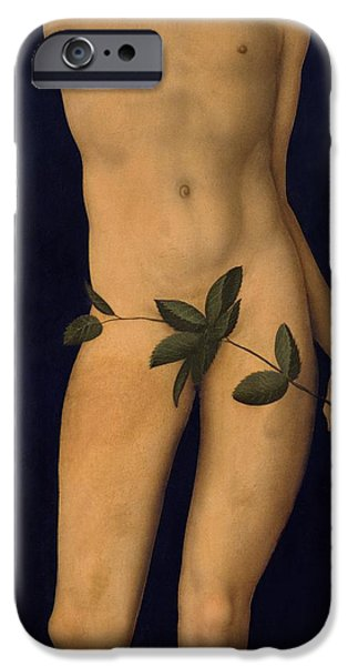 Old Testament iPhone Cases - Adam iPhone Case by The Elder Lucas Cranach