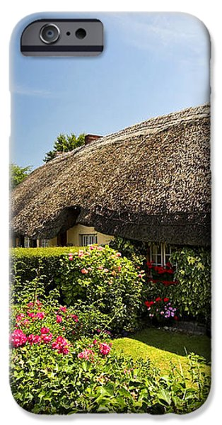 Adare thatch roof cottages Ireland iPhone Case by Pierre Leclerc Photography