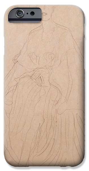Preparatory Study iPhone Cases - Adele Bloch Bauer iPhone Case by Gustav Klimt