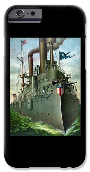 Admiral iPhone Cases - Admiral Deweys Flagship Olympia iPhone Case by War Is Hell Store