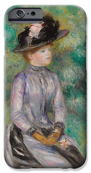 Pierre Auguste Renoir iPhone Cases - Adrienne iPhone Case by Pierre Auguste Renoir