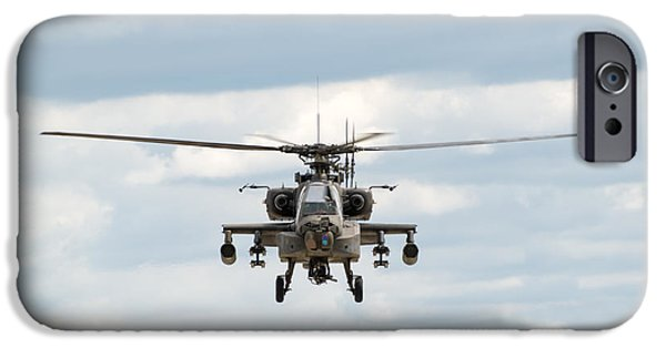 Smoke iPhone Cases - AH-64 Apache iPhone Case by Sebastian Musial