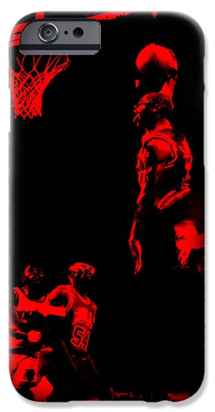 John Stockton iPhone Cases - Air Jordan Glide iPhone Case by Brian Reaves