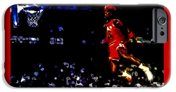 John Stockton iPhone Cases - Air Jordan in Flight IV iPhone Case by Brian Reaves