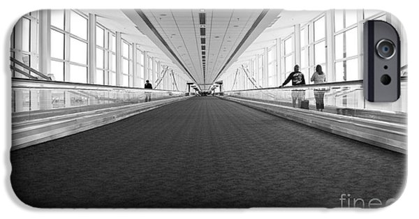Buildings iPhone Cases - Airport Architecture Escalator Movement iPhone Case by ELITE IMAGE photography By Chad McDermott