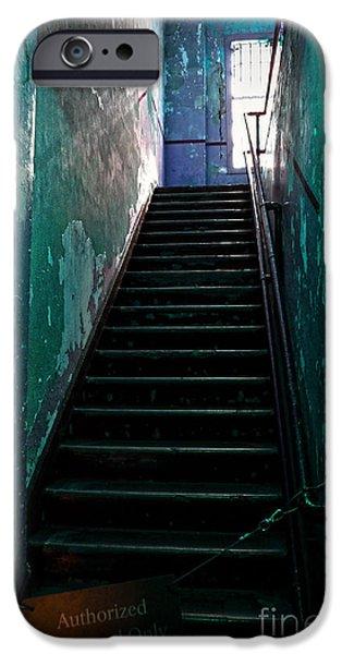 Alcatraz iPhone Cases - Alcatraz Hospital Stairs iPhone Case by RicardMN Photography