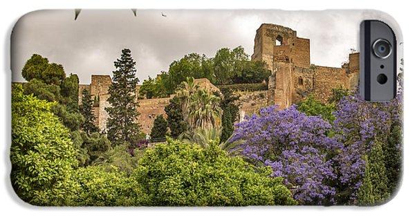 Malaga iPhone Cases - Alcazaba - Malaga Spain iPhone Case by Jon Berghoff