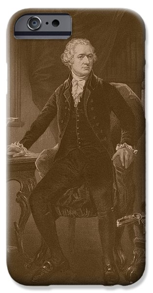 Treasury iPhone Cases - Alexander Hamilton iPhone Case by War Is Hell Store