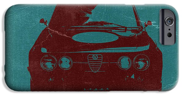 Old Digital iPhone Cases - Alfa Romeo GTV iPhone Case by Naxart Studio