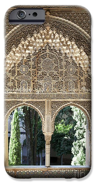Alhambra windows iPhone Case by Jane Rix