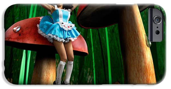 Alice In Wonderland Photographs iPhone Cases - Alice in Wonderland iPhone Case by Oleksiy Maksymenko