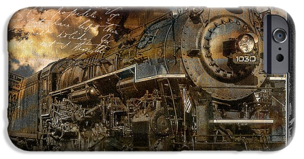 Steam Locomotive iPhone Cases - All Aboard iPhone Case by Mindy Sommers