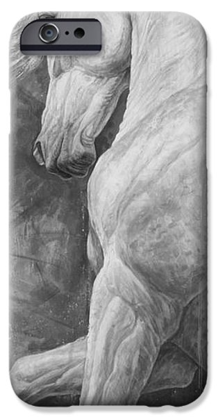 Horse Artist iPhone Cases - Allegro iPhone Case by Silvana Gabudean