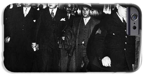 Recently Sold -  - Police Officer iPhone Cases - Alphonse Capone (1899-1947) iPhone Case by Granger