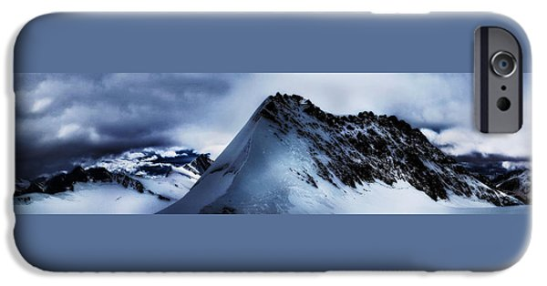 Grindelwald iPhone Cases - Alpine Shadows iPhone Case by Claire Walsh