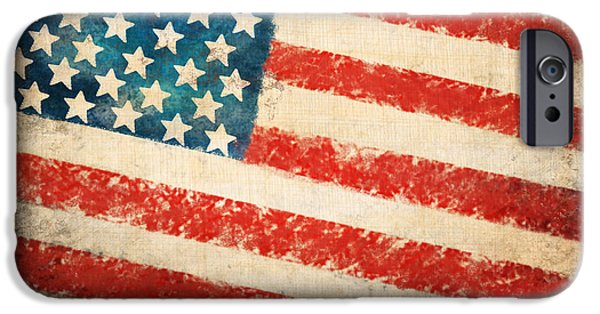 Patriotism iPhone Cases - America flag iPhone Case by Setsiri Silapasuwanchai