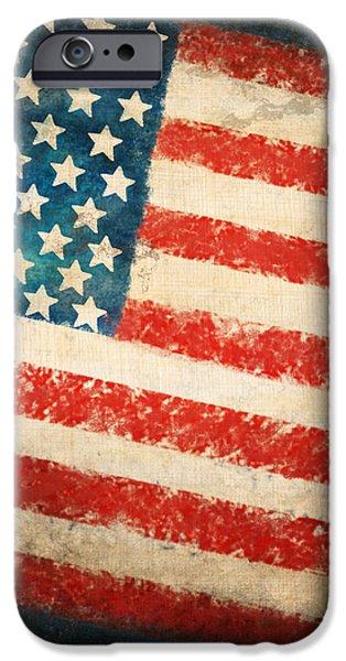 America flag iPhone Case by Setsiri Silapasuwanchai