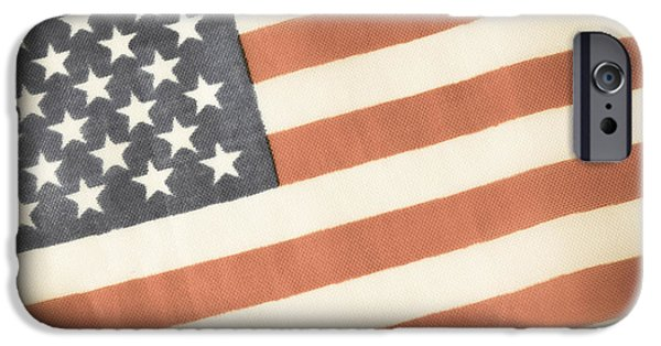 July 4th iPhone Cases - American Flag iPhone Case by Andrea Anderegg