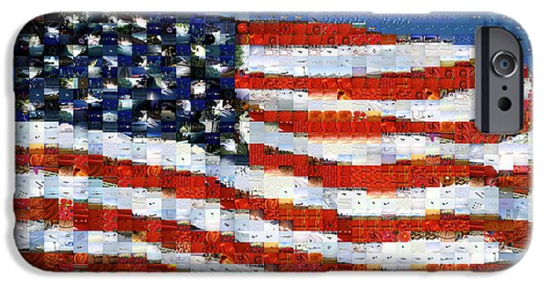 Liberation iPhone Cases - American Flag iPhone Case by Panoramic Images