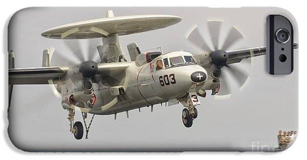 Recently Sold -  - Electronic iPhone Cases - An E-2c Hawkeye Landing On The Flight iPhone Case by Giovanni Colla