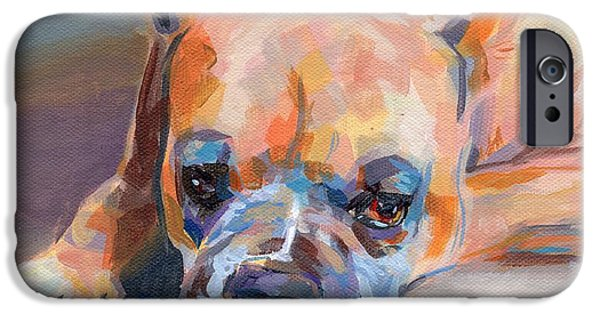 Boxer iPhone Cases - Andre iPhone Case by Kimberly Santini
