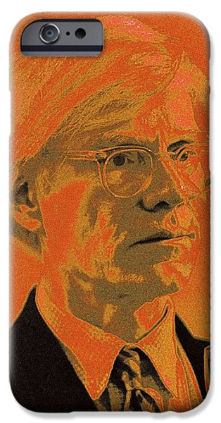 Elephants iPhone Cases - Andy Warhol / 2 iPhone Case by Jean-Marie Bottequin
