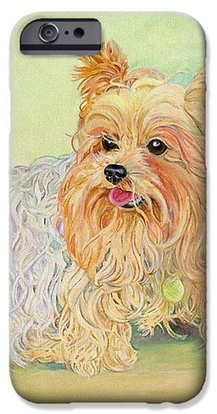 Yorkshire Terrier iPhone Cases - Annies Yorkie iPhone Case by Kimberly McSparran