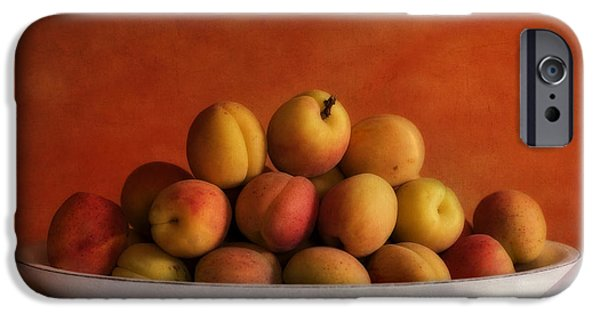 Table Top iPhone Cases - Apricot Delight iPhone Case by Priska Wettstein