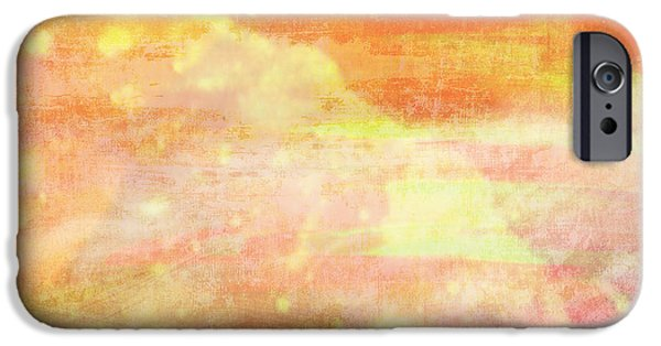 Apricots iPhone Cases - Apricot Mist iPhone Case by Maria Eames
