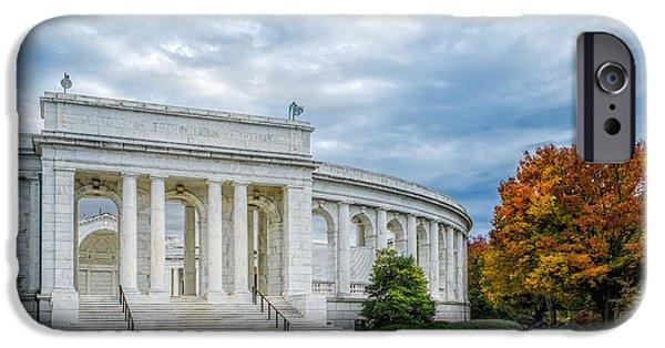 D.c. iPhone Cases - Arlington Memorial Amphitheater iPhone Case by Susan Candelario
