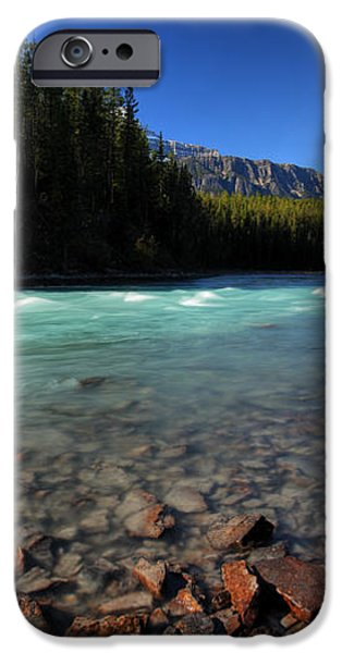 Athabasca River in Jasper National Park iPhone Case by Mark Duffy