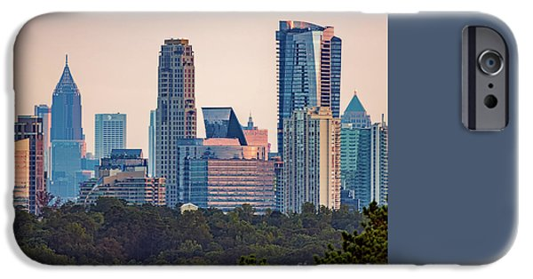 Bank Of America iPhone Cases - Atlanta Skyline iPhone Case by Doug Sturgess