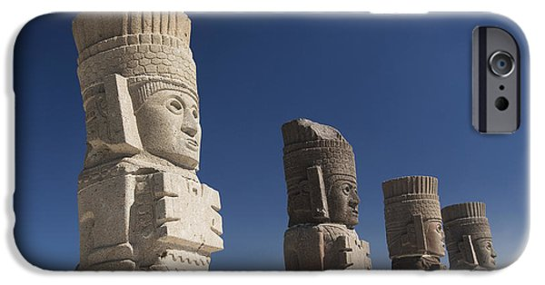 Historic Site iPhone Cases - Atlantes Warrior Statues iPhone Case by Gloria & Richard Maschmeyer - Printscapes