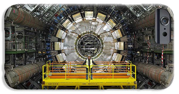 Technological iPhone Cases - Atlas Detector, Cern iPhone Case by David Parker