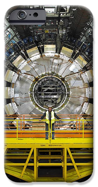 Atlas Detector, Cern iPhone Case by David Parker