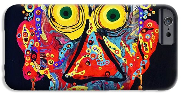 Abstract Expressionism iPhone Cases - Auntie was a Clarinet iPhone Case by Charlotte Nunn