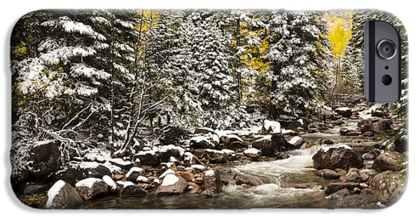 Gore iPhone Cases - Autumn At Gore Creek - Vail Colorado iPhone Case by Brian Harig