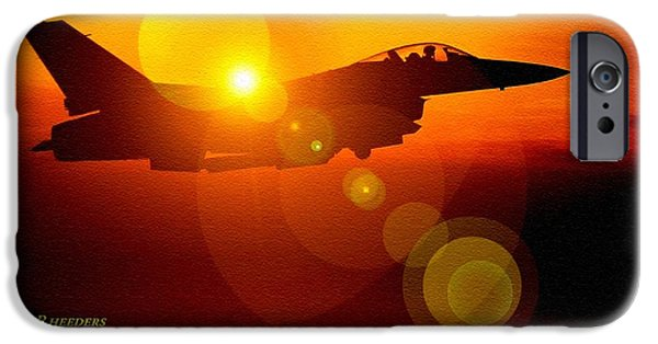 Mist iPhone Cases - Aviation Art Catus 1 no. 16 H a iPhone Case by Gert J Rheeders