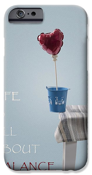 Table Cloth iPhone Cases - Balance iPhone Case by Joana Kruse