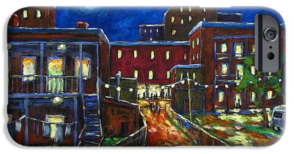 Canadiens Paintings iPhone Cases - Balconville iPhone Case by Richard T Pranke